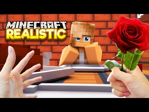 Thumbnail: Realistic Minecraft - FIRST DATE WITH MY GIRLFRIEND IN REAL LIFE!