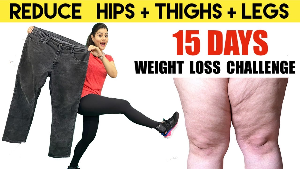 Only 10 Mins Reduce Hips + Thighs Fat + Legs |  15 Days Weight Loss Challenge  -  Easy Home Workout