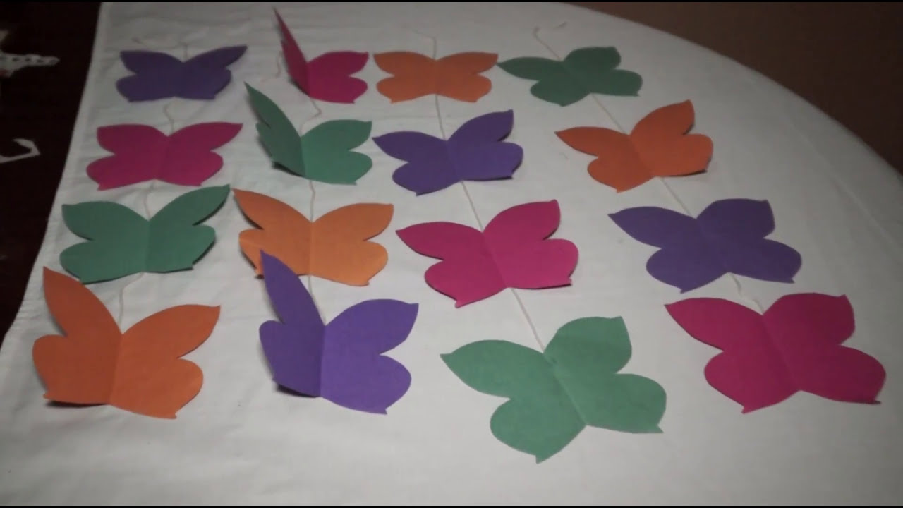 Diy cortina de mariposa youtube for Decoracion para pared vintage