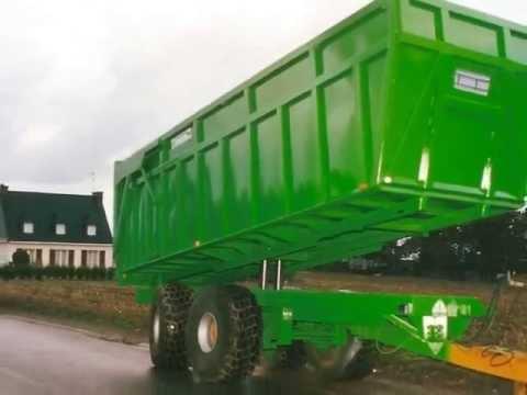 Remorque agricole grand volume benne porte engin gtb gicquel t l 33 0 2 97 22 44 36 youtube - Remorque porte outil agricole ...