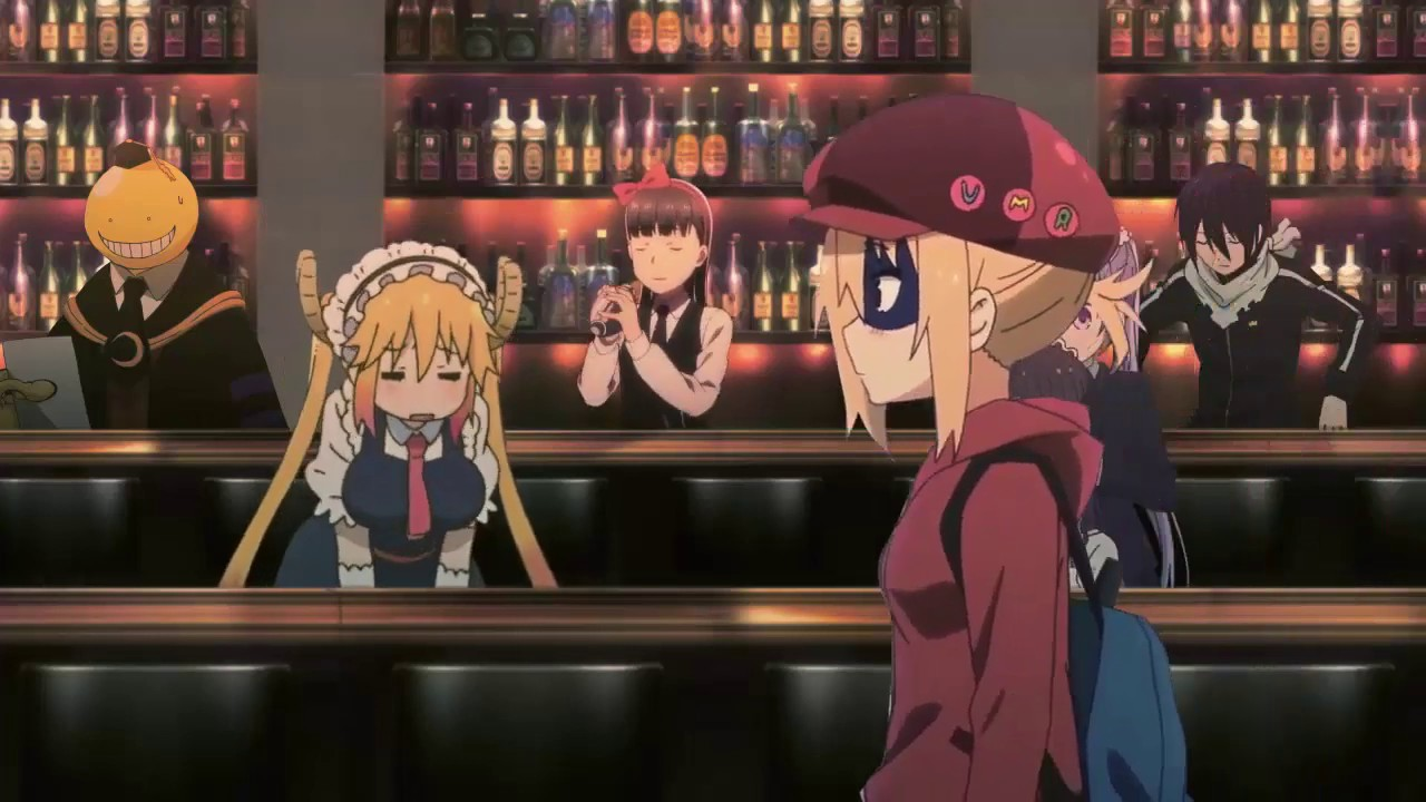 Anime characters in bar (wallpaper engine) - YouTube