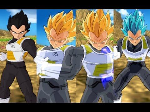 Vegeta fukkatsu no f all forms download dragon ball z budokai tenkaichi 3 version latino - Vegeta all forms ...