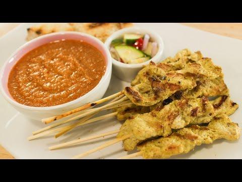 Satay & Peanut Sauce Recipe หมูสะเต๊ะ Hot Thai Kitchen!