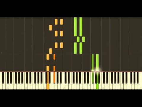 Yann Tiersen - J'y Suis Jamais Alle (Synthesia Tutorial)