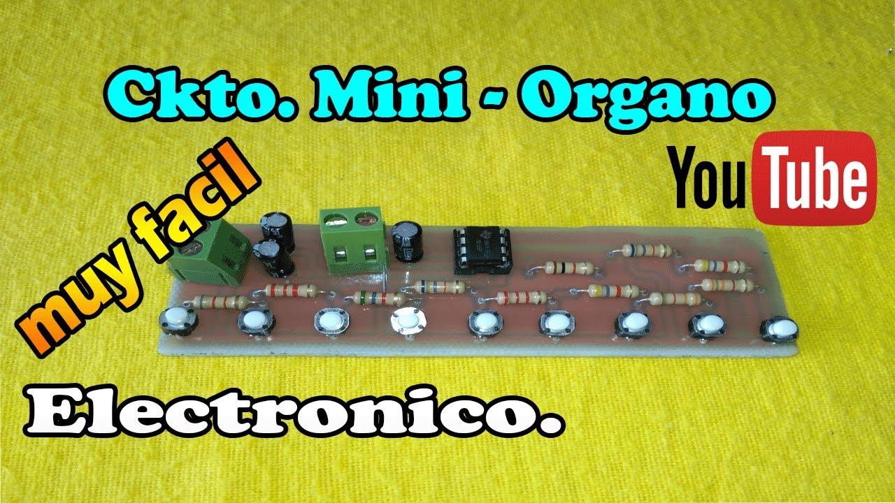 Como hacer un Organo Electrónico   Diagrama y Circuitos. - YouTube