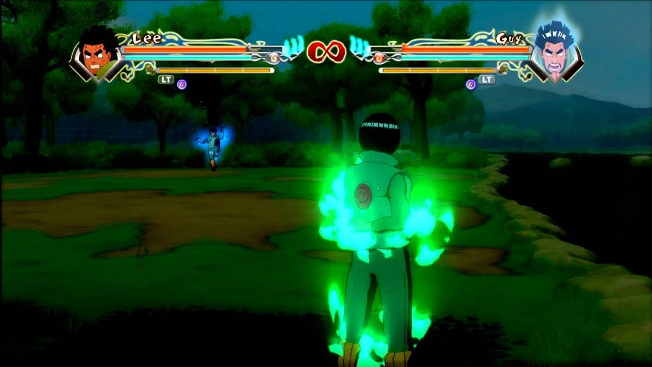 Naruto Storm Generations - 8 Gates Lee VS 8 Gates Guy ...