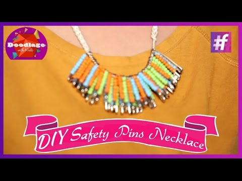 Diy tutorial how to make necklace with safety pins and for Waste from best making