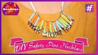 Diy Tutorial | How To Make Necklace With Safety Pins And Beads