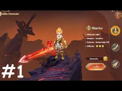 Light Chaser #1 Gameplay Первый взгляд Обзор Летсплей (Android,iOS,APK) Игра за Warrior