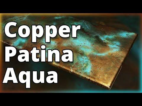 How To Make Wood Look Like Aqua Patina Copper using Epoxy | Stone Coat Countertops
