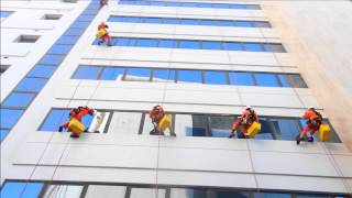 Window cleaning rope access project Stalco Shipping Tower - Bur Dubai