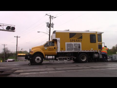 MOW Sperry Rail Truck SRS 770 Getting Off The Tracks At Tanglewood RD Bladensburg MD