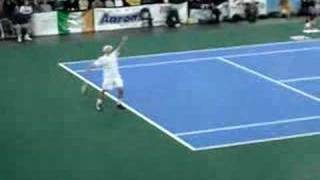 Roddick imitates Serena! Don't miss this! Hilarious!!!!!!!!!