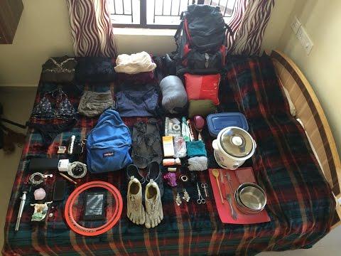 Minimalist Backpacking || Indien und Nepal (vegan, selbstverpflegung)