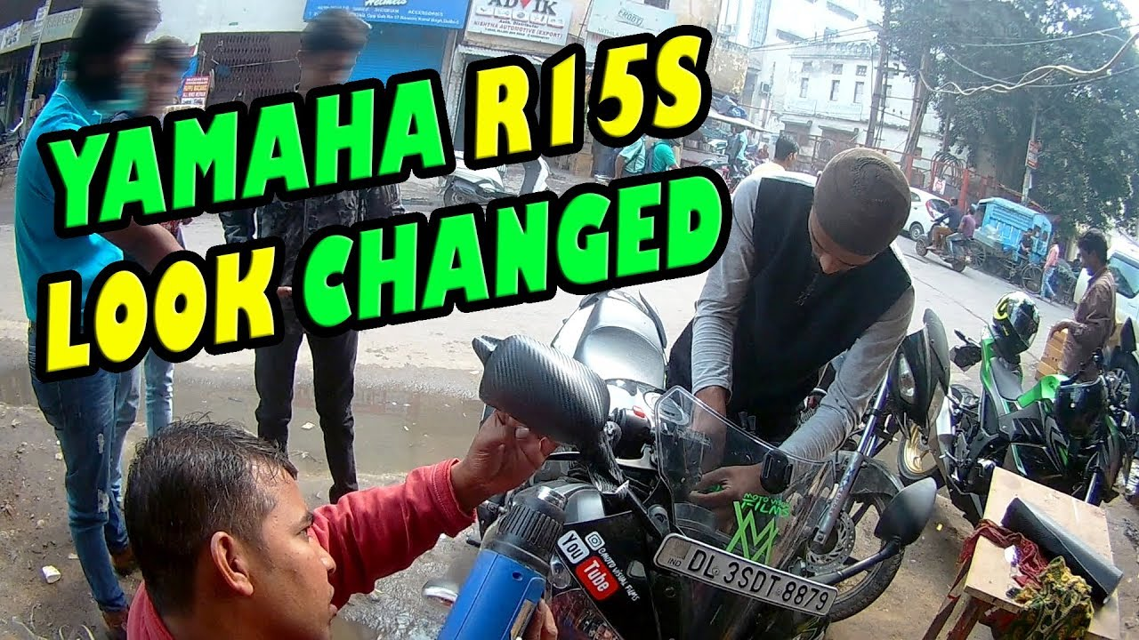 Yamaha R15s Look changed | Wrapping and Sticker Timelapse