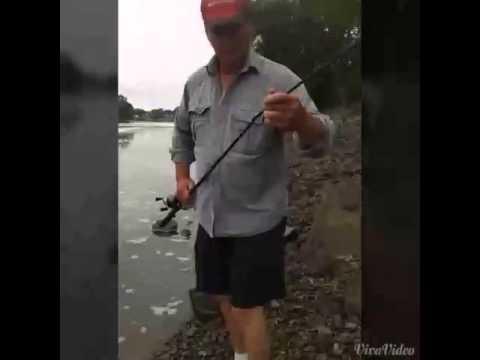 Fishing at the kaskaskia river
