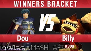 SL SSBM #308 - Dou (Marth) vs Billy (Donkey Kong) - Winners Bracket