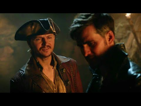 Once Upon A Time 7x13 Captain Ahab Deters Hook To Save Rumple - Hook Wants Fight Captain Ahab Scene