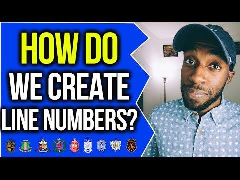 HOW DO WE CREATE LINE NUMBERS!?   NPHC ADVICE   COREY JONES