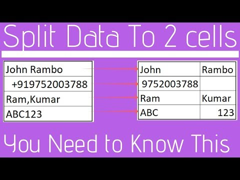 Split Data in 1 cell to 2 cells in Excel