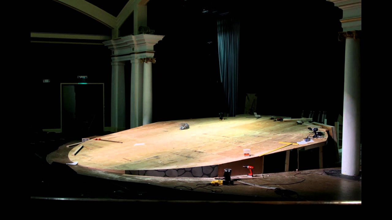 Building Of The Raked Stage For Sbct S Quot Cat On A Hot Tin