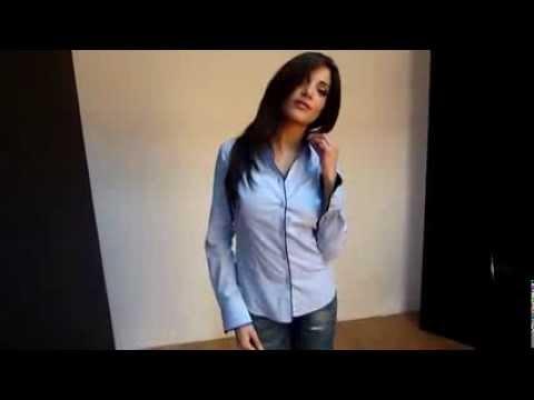 chemise femme bleu ciel unie gazoil collection mod le chlo youtube