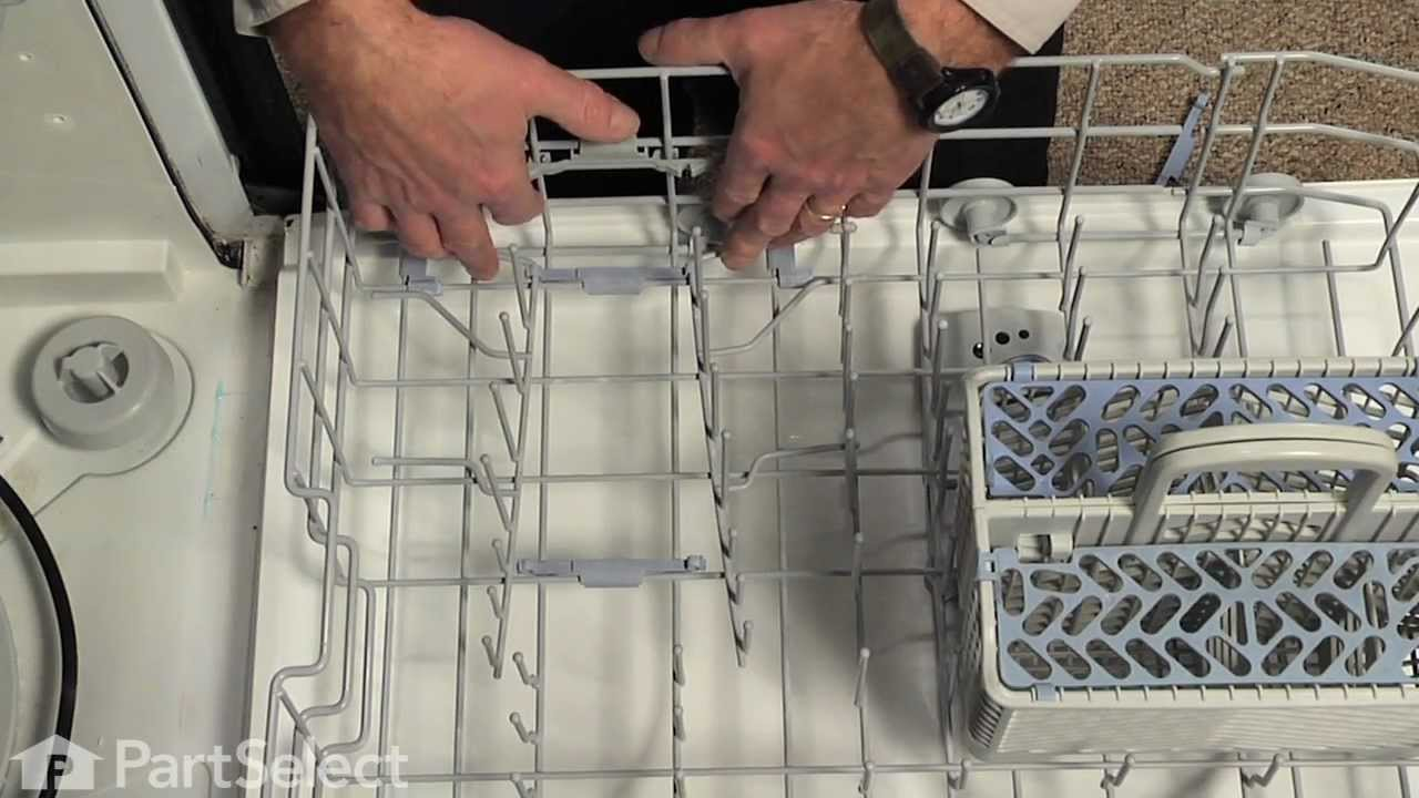 Kitchen Aid Dishwasher Repair Wooden Island Repair- Replacing The Tine Pivot (whirlpool ...