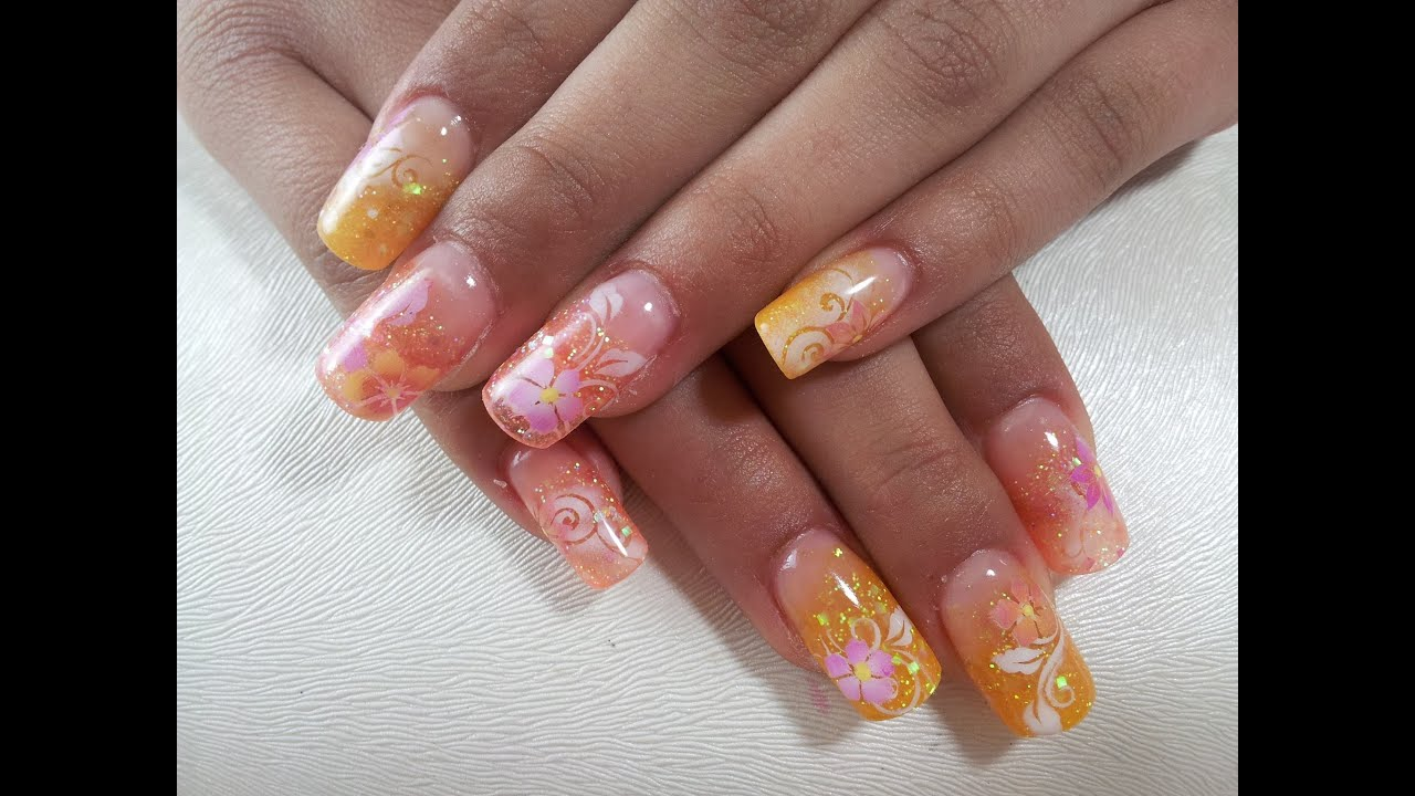 summer nails-Acrylnägel Neumodellage - YouTube