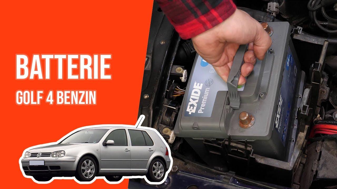 tutorial volkswagen golf 4 benzin die autobatterie wechseln youtube. Black Bedroom Furniture Sets. Home Design Ideas