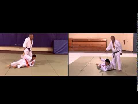 Luis V Gorospe MD 6th degree black belt judoka demonstrating judo techniques