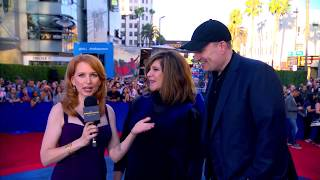 Kevin Feige and Amy Pascal Talk Spidey at the Spider-Man: Homecoming Red Carpet World Premiere