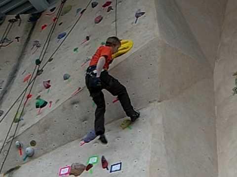 Nate's crazy 5.13 climb
