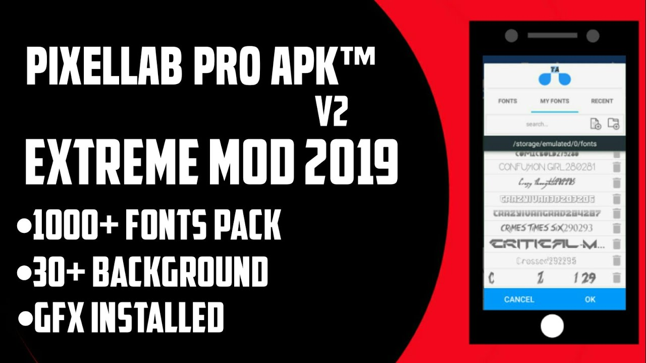 Pixellab new mod apk with 500 amazing fonts and background 🔥Pixellab mod  2018🔥Pixellab for android