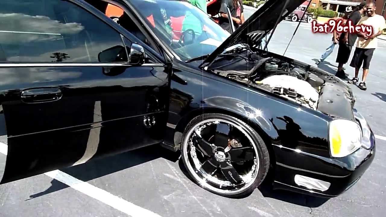 "BLACK on BLACK Cadillac Deville on 22"" Giovanna wheels - HD - YouTube"
