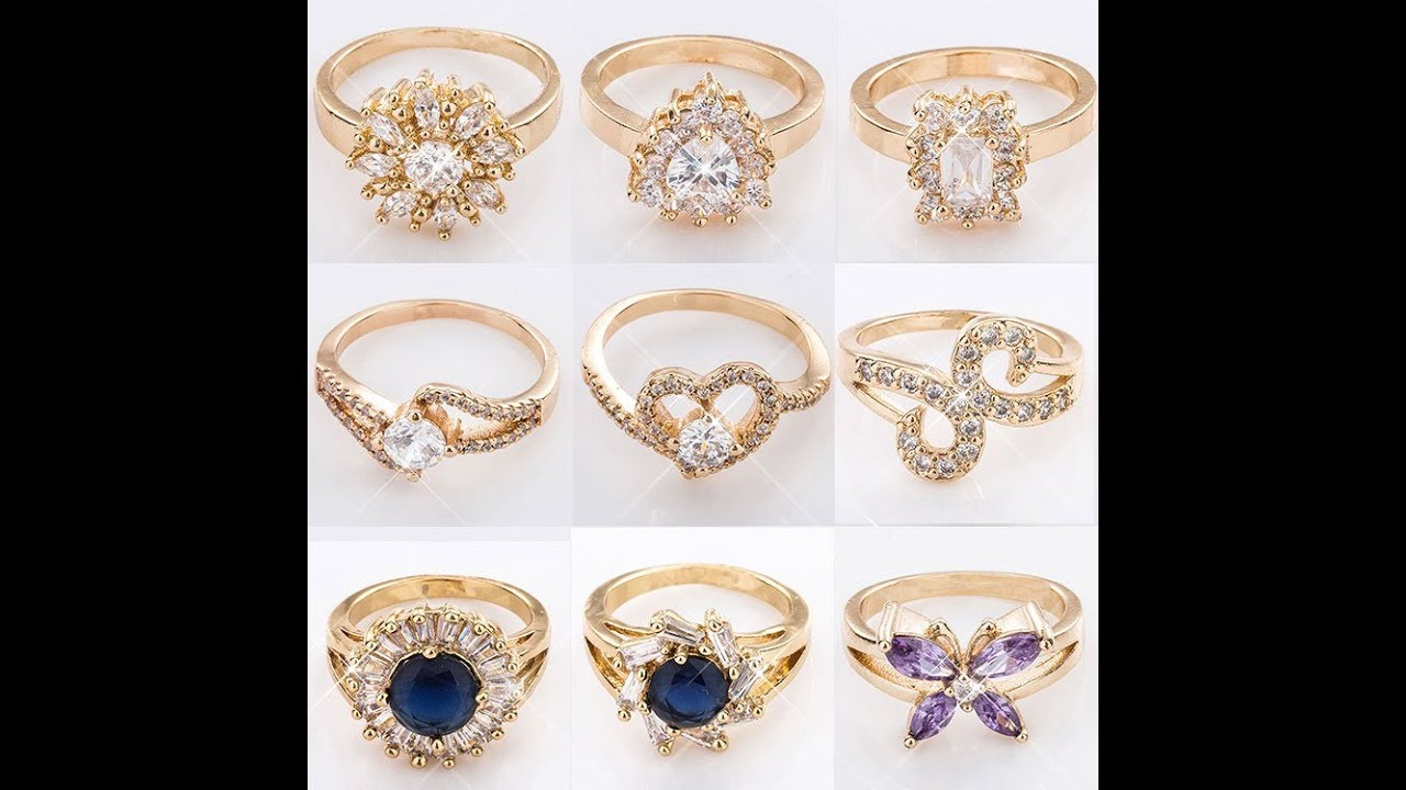Latest New Fashion Finger Ring Designs -2017 - YouTube