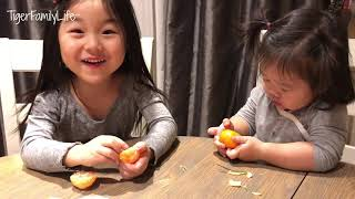 Baby Girls Trying Mukbang For First Time
