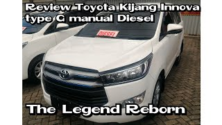 Review All New Toyota Kijang Innova type G manual 5speed Diesel 2018 Indonesia