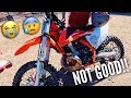 HE CRASHED HIS NEW KTM INTO THE RIVER!!