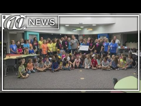 Duke Energy Florida presents check to Shady Hills Elementary School