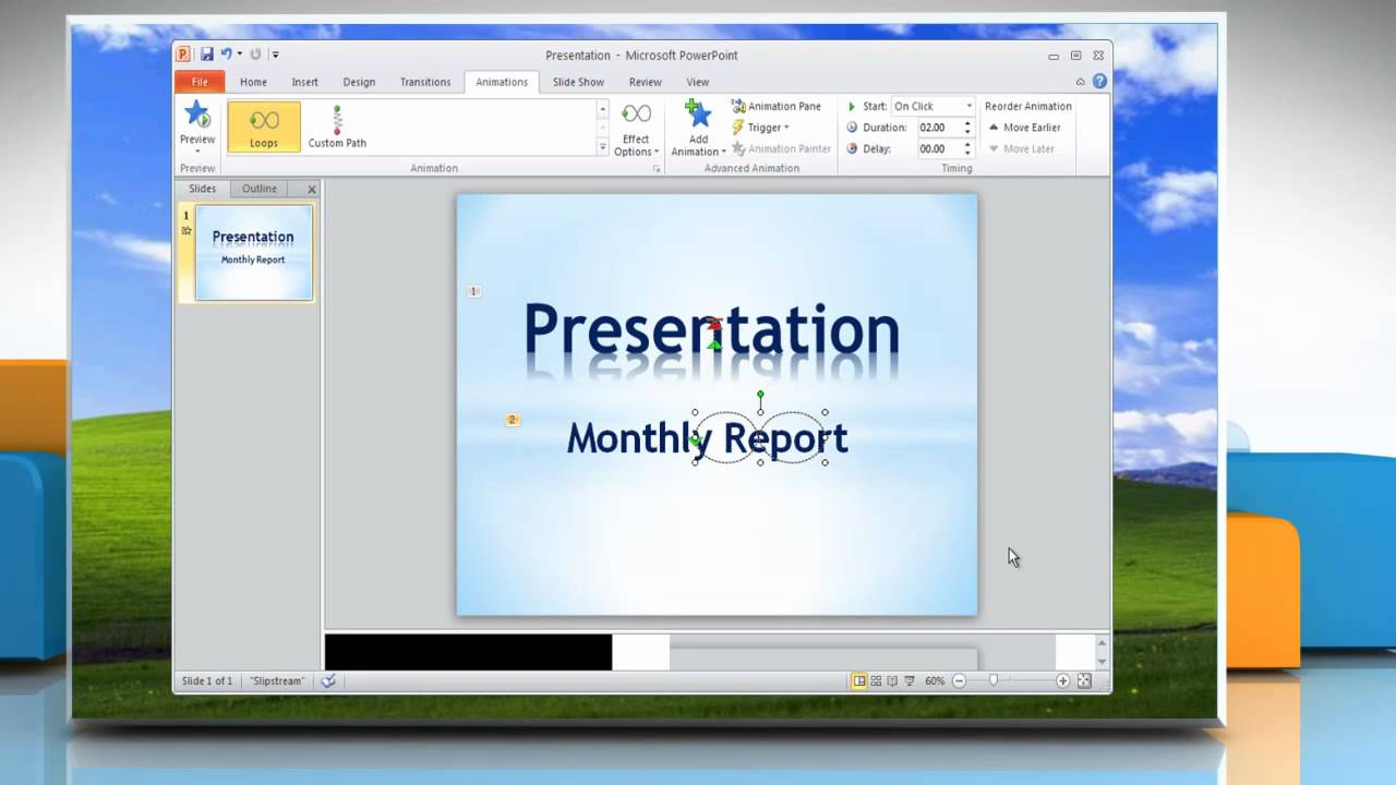 Microsoft� Powerpoint 2010: How To Animate Text In A Presentation On  Windows� Xp?