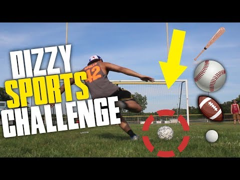 INSANE ALL SPORT DIZZY BAT CHALLENGE! |