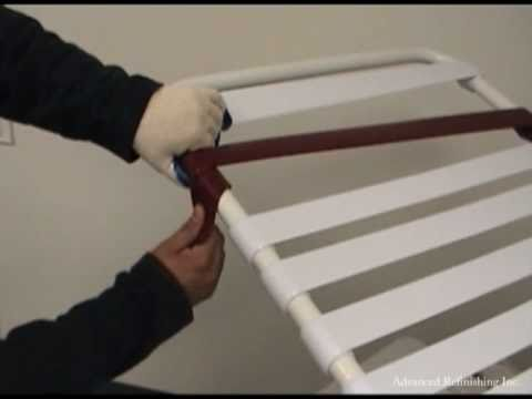Patio Chair Repair Vinyl Strap Church Banquet Tables And Chairs Double Wrap Installation Youtube