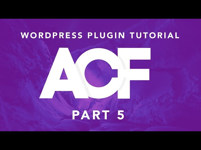 Building Websites With WordPress: ACF Plugin Part 5 - Options Page