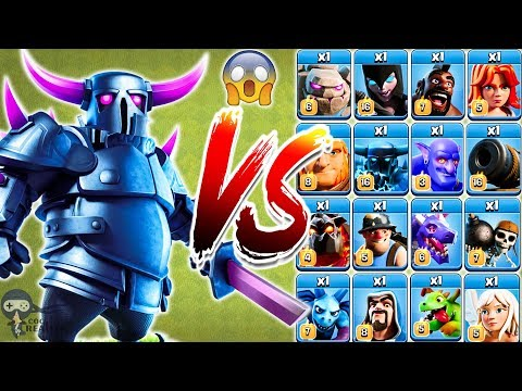 PEKKA vs All Troops Clash of Clans Gameplay | Pekka vs every single troop COC