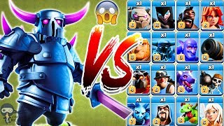 PEKKA vs All Troops Clash of Clans Gameplay | Pekka vs every single troop COC
