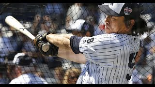 Yankees' Cone Throws at Hideki Matsui's Head! (Old Timer's Day)