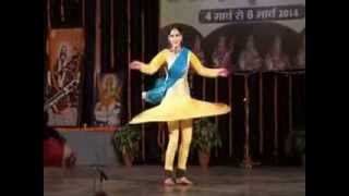 Kathak Dance Vidha Lal Kathak spins in Basant taal