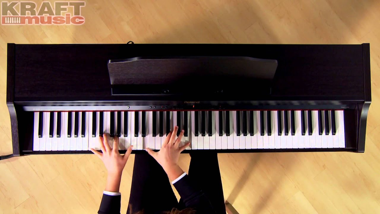 kraft music roland rp 401r digital piano performance with alicia baker youtube. Black Bedroom Furniture Sets. Home Design Ideas