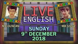 Social Media Trends - Live English Learning  - Christmas Lights - 9/12/18