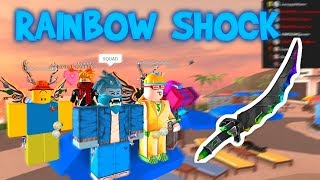 BUYING THE NEW RAINBOW SHOCK IN ROBLOX MMX!!